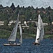 Lake Union Regatta Art Print