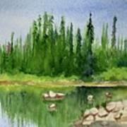Lake View 1-2 Art Print