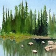 Lake View 1 Art Print