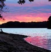 Lake View Sunset Art Print