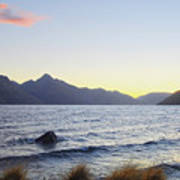 Lake Wakatipu At Sunset Art Print