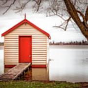 Lake Wendourie Boathouse Art Print