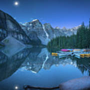 Lake With Moon At Four Am Art Print