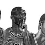Laker Greats Art Print by Keeyonardo