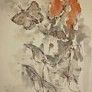 Lakeside Butterflies Art Print