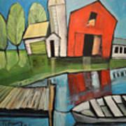 Lakeside Farm Art Print