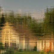 Lakeside Living On Wiggins Lake - Abstract Art Print
