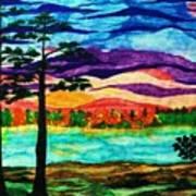 Lakeside Morning Awe Art Print by Jeanette Stewart