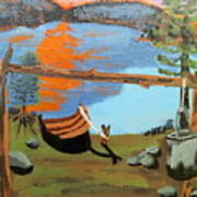 Lakeside Retreat Art Print