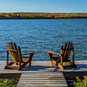 Lakeside Seating For Two Art Print