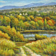 Lakeside Trail In Autumn Art Print