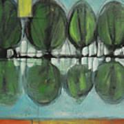 Lakeside Trees Art Print