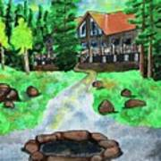 Lakewoods Lodge Art Print