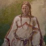 Lakota Woman Art Print by Ellen Dreibelbis