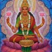 Lakshmi Blessing Art Print
