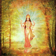 Lakshmi Vision In The Forest  Art Print