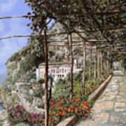 L'albergo Dei Cappuccini-costiera Amalfitana Art Print by Guido Borelli