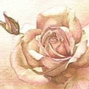 Lalique Rose Art Print