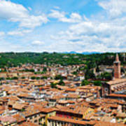 Lamberti Tower View Of Verona Italy Art Print