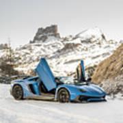 Lamborghini Aventador Sv Art Print