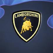 Lamborghini Emblem Art Print