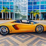 Lamborghini Gold Art Print