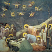 Lamentation Of Christ Art Print