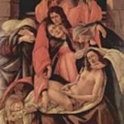 Lamentation Over The Dead Christ 1490 Art Print