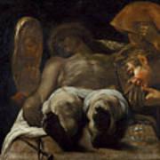 Lamentation Over The Dead Christ Art Print