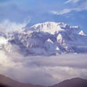 Lamjung Himal Peak Above The Clouds Art Print