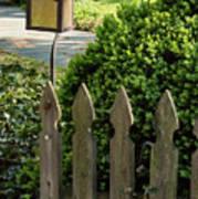 Lamp And Gate Art Print