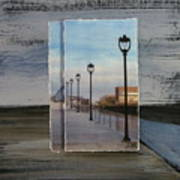 Lamp Post Row Layered Art Print
