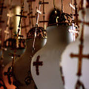 Lamps Inside The Church Of The Holy Sepulchre, Jerusalem Art Print