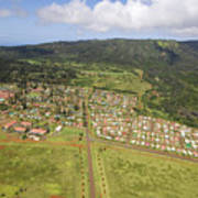 Lanai City Aerial Art Print