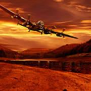 Lancaster Over Ouzelden Art Print by Nigel Hatton