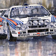 Lancia 037 Martini Rally 1983 Art Print