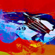Lancia Stratos Watercolor 2 Art Print