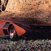 Lancia Stratos Zero Art Print