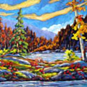 Land Of Lakes Art Print
