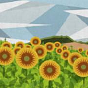 Land Of Sunflowers. Art Print