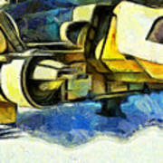 Landed Imperial Shuttle - Pa Art Print