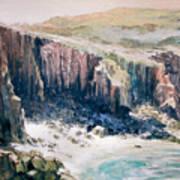 Lands End Cornwall Art Print