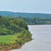 Landscape Along The Tennessee River At Shiloh National Military Park, Tennessee Art Print