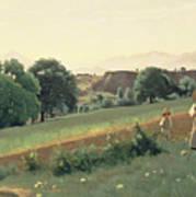 Landscape At Mornex Art Print