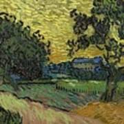 Landscape At Twilight Auvers Sur Oise June 1890 Vincent Van Gogh 1853  189 Art Print