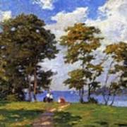 Landscape By The Shore Aka The Picnic Edward Henry Potthast Art Print