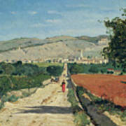 Landscape In Provence Art Print by Paul Camille Guigou