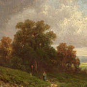 Landscape In The Loisach-valley Art Print