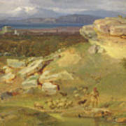 Landscape Near Corinth Art Print