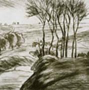 Landscape Near Osny  Art Print